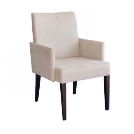 Koton Kumaşlı Siyah Boyalı Kollu Modern Sandalye - mskb46