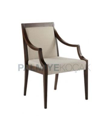 Dark Antique Wooden Arm Chair