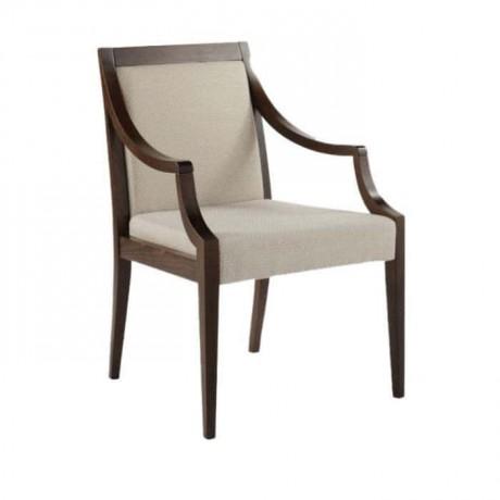 Koyu Eskitme Ahşap Kollu Modern Sandalye - mskc21
