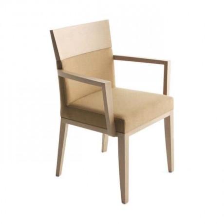 Krem Boyalı Bej Kumaşlı Moderen Sandalye - mskc04