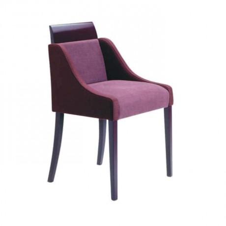 Mürdüm Kumaşlı Modern Kollu Sandalye - mskb30