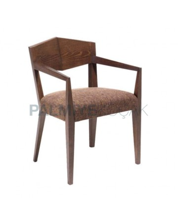 Wooden Hotel Lobby Arm Chair