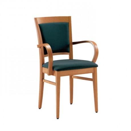 Papel Kollu Siyah Döşemeli Natural Boyalı Sandalye - mska38