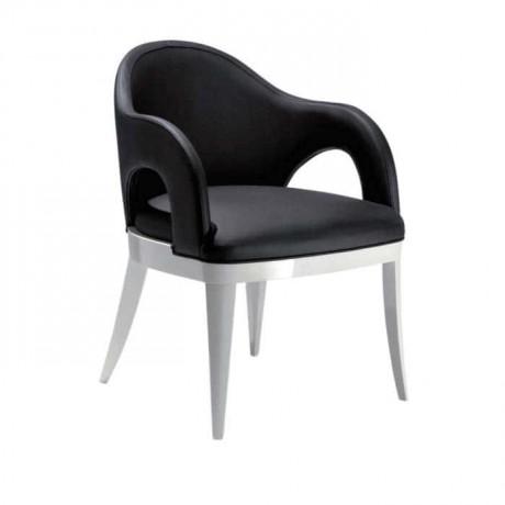 Siyah Beyaz Kollu Modern Sandalye - mskb21