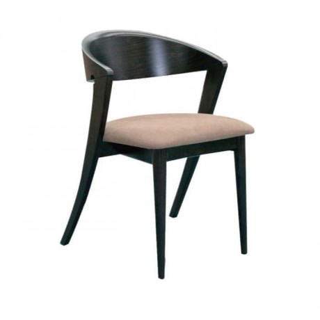 Siyah Boyalı Ahşap Modern Sandalye - mska40