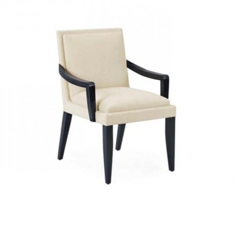 Siyah Boyalı Modern Kollu  Salon Sandalyesi - mska27