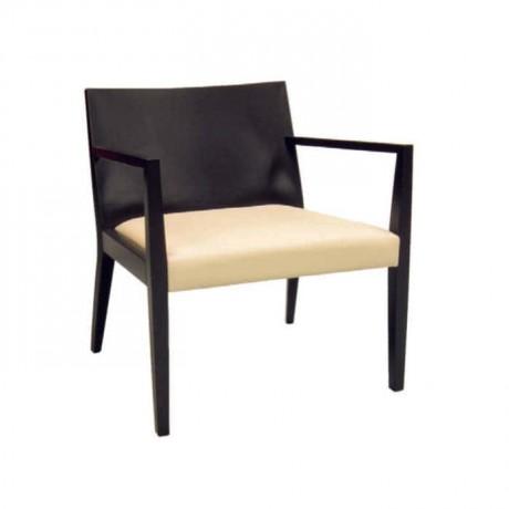 Siyah Kontralı Ahşap Modern Kollu Sandalye - mska85