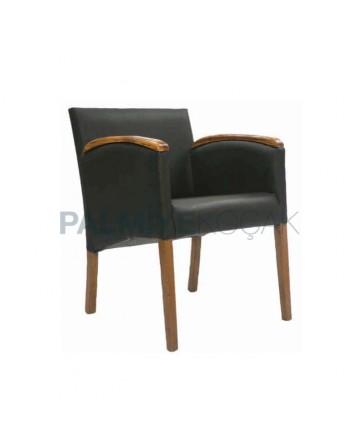 Black Nubuck Upholstered Cafe Restaurant Chair