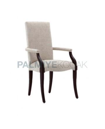 Süet Kumaş Döşemeli Ahşap Modern Sandalye