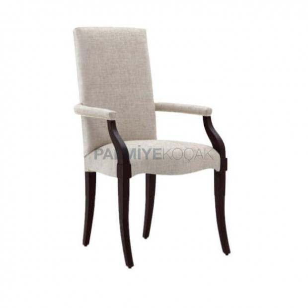 Suede Fabric Upholstered Wooden Modern Chair