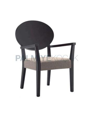 Venge Painted Beige Upholstered Armchair