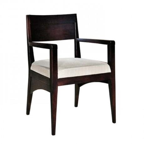 Venge Boyalı Modern Kollu Otel Sandalyesi - mska6