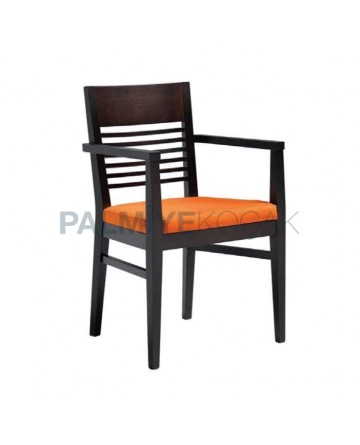 Venge Painted Orange Cushioned Armchair