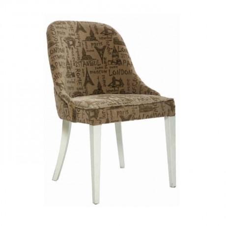 Yarım Kollu Desenli Lake Beyaz Sandalye - mskb70