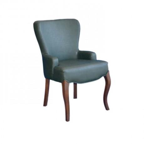 Yeşil Derili Lukens Ayaklı Modern Sandalye - mskb40