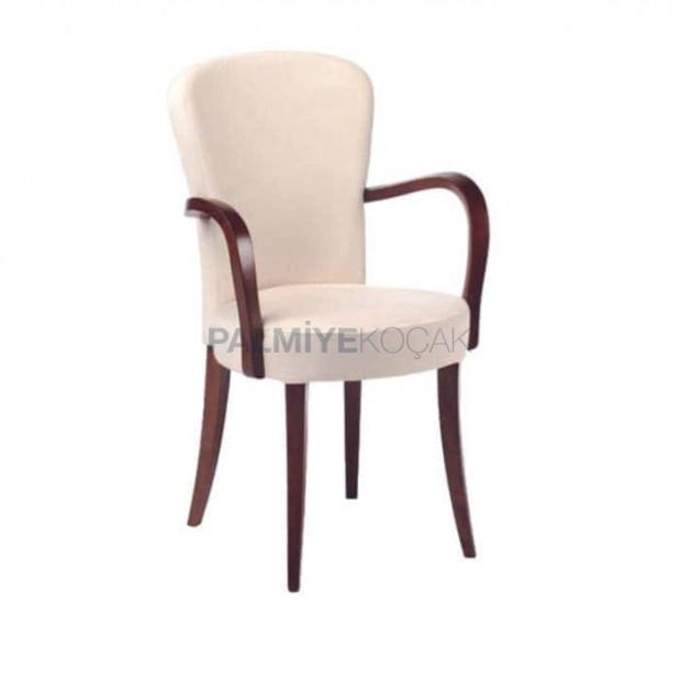 Round White Upholstered Moderrn Restaurant Cafe House Arm Chair