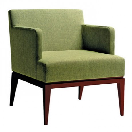 Modern Bergere with Wooden Baza - bm04