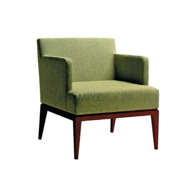 Modern Bergere with Wooden Baza