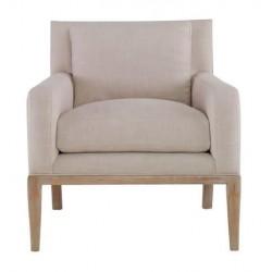 Beige Linen Upholstered Bergere