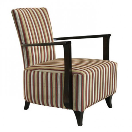 Striped Patterned Wooden Bergere - bm118