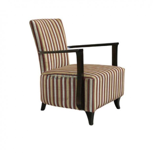 Striped Patterned Wooden Bergere