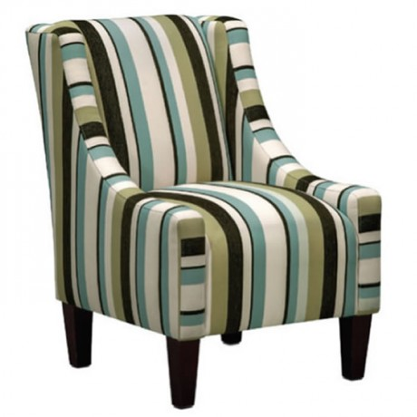 Modern Bergere with Striped Fabric - bm61