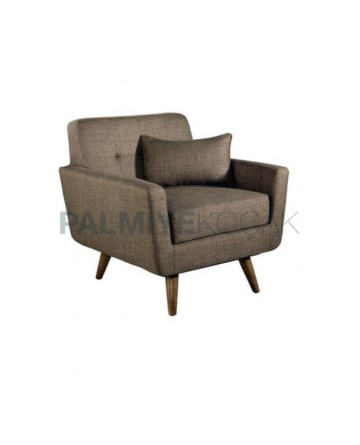 Brown Linen Fabric Bergere