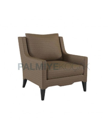 Modern Bergere with Brown Linen Fabric