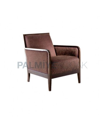 Brown Fabric Bergere