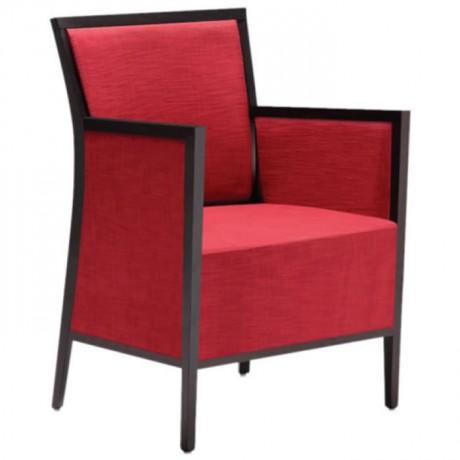 Kırmızı Kumaşlı Modern Berjer - bm03