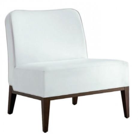 Kolsuz Modern Beyaz Kumaşlı Berjer - bm115