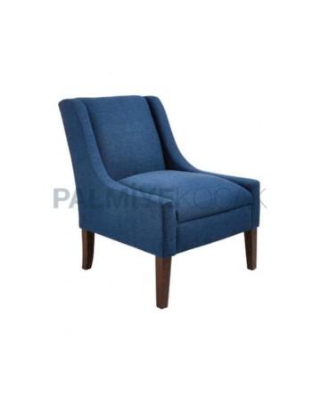 Mavi Kumaşlı Modern Berjer