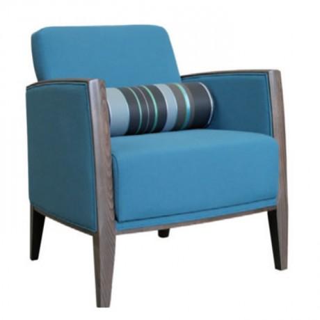 Modern Mavi Kumaşlı Berjer - bm114