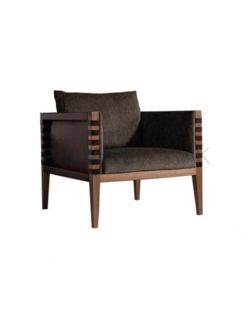 Modern Bergere with Pyramid Legs