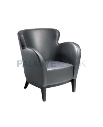 Black Leather Lobby Bergere