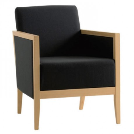 Modern Bergere with Black Fabric - bm05