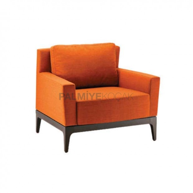 Bergere with Orange Fabric