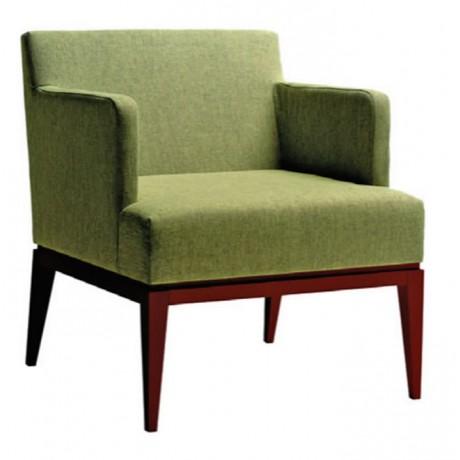 Yeşil Keten Kumaşlı Berjer - bm133
