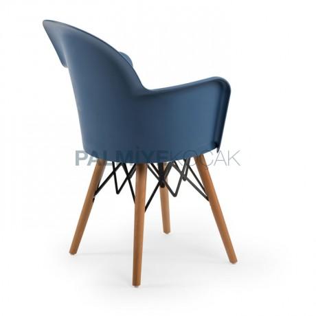 Retro Ayak Polipropilen Kollu Modern Koltuk Sandalye - Ahşap Modern Kollu Sandalye