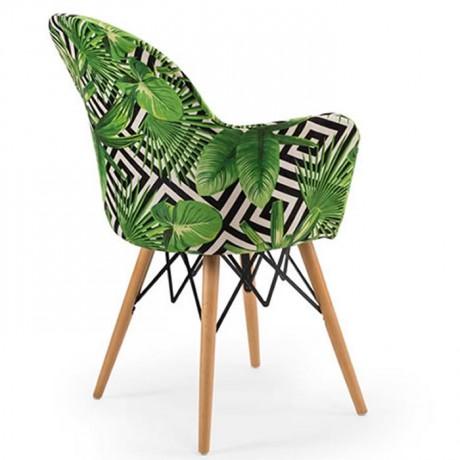 Retro Ayaklı Renkli Kumaş Döşemeli Sandalye - psa700