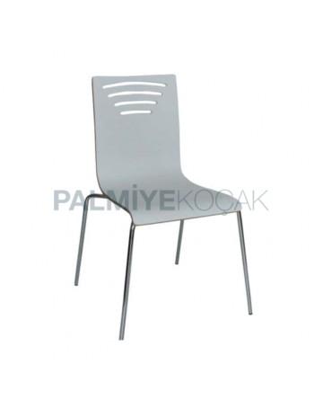 White Lamine Chair