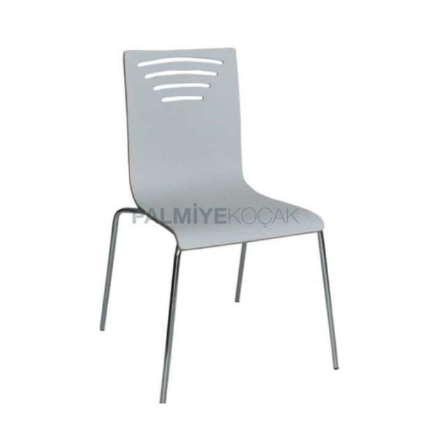 Beyaz Lamine Sandalye