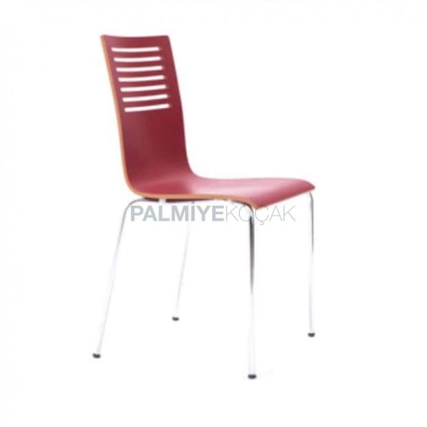 Red Monoblock Metal Chair