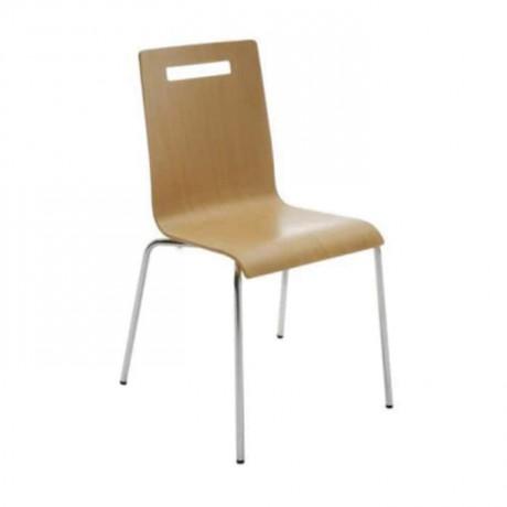 Laminate Monoblock Metal Leg Chair - lms129