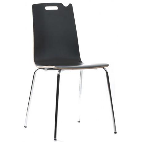 Çanta Asılabilir Sırt Formlu Siyah Antrasit Monoblok Sandalye - san0322