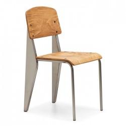 Monoblock Back and Seating Surface Metal Skeleton Metal Chair