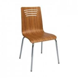 Olive Mono Block Metal Chair