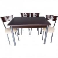 Ekonomik Wenge Renkli Mutfak Masa ve Sandalye Takımı Kaliteli