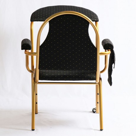 Siyah Kumaş Döşemeli Metal Namaz Sandalyesi - nmz1