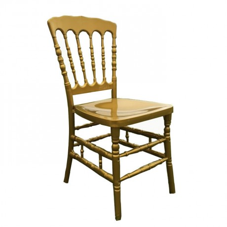 Altın Sarı Plastik Lüks Napolyon Sandalye - tfs4069a
